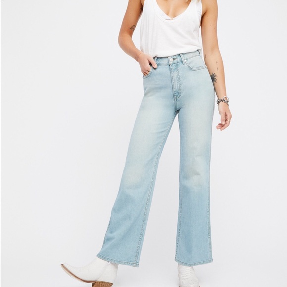 luxury aesthetic rich and magnificent factory outlets We the Free High Rise Straight Flare Jeans NWOT